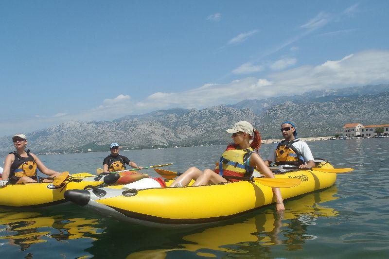 kajaki morze Chorwacja